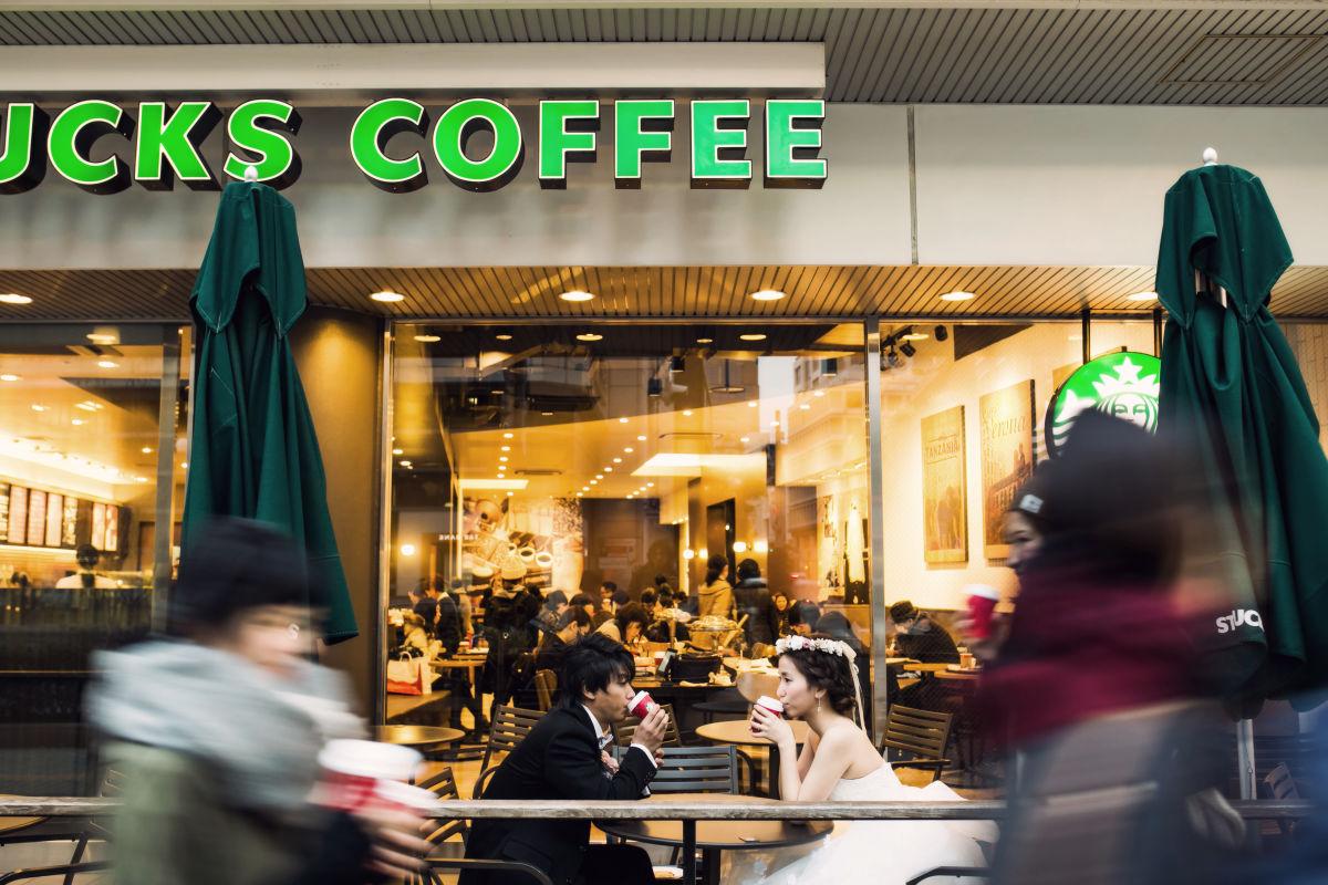 Starbucks break! — Photo by elle pupa