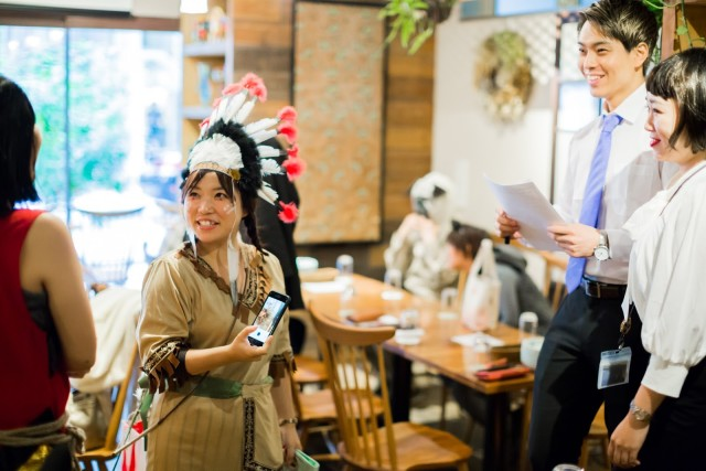 MAKOTO TOCHIKUBOの撮影したネイティブ・アメリカンのハロウィン仮装写真