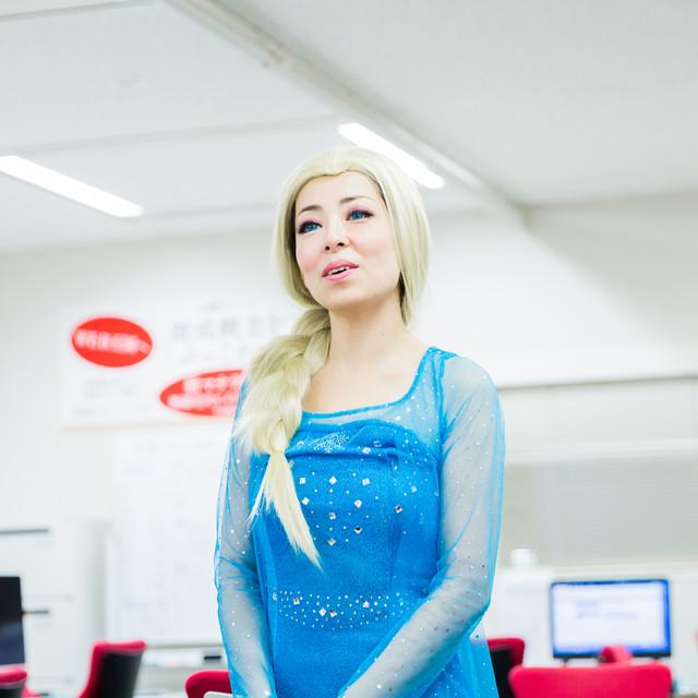 MAKOTO TOCHIKUBOの撮影したエルサ(アナと雪の女王)のハロウィン仮装写真