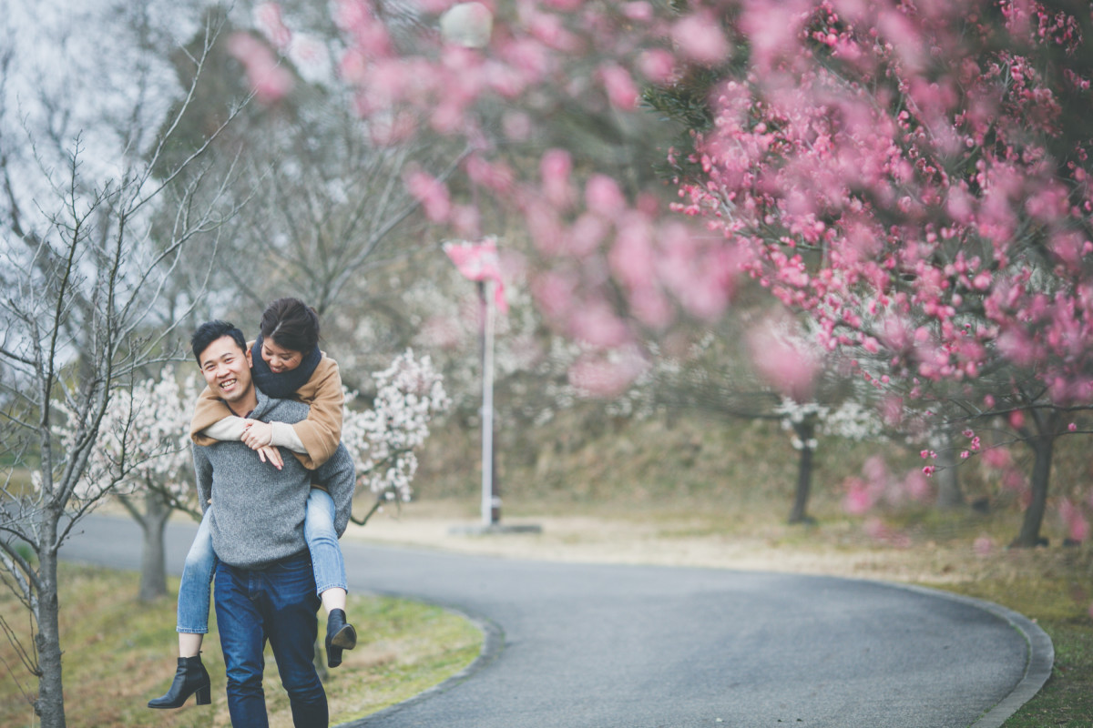 Couple in Cherry Blossoms