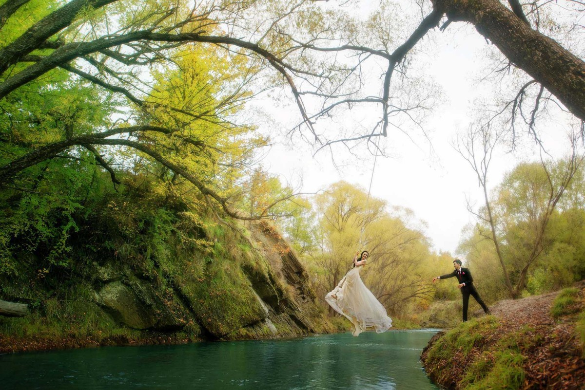 An incredible pre wedding shoot in New Zealand. Photo by 2 of Us Photography