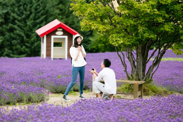 surprise proposal in Hokkaido Furano! — Photo by Lykke photo style