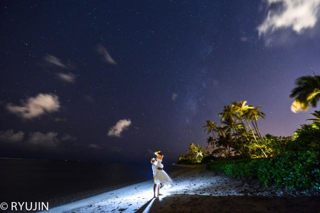 Ryujin Hawaiiが撮影した海外ハネムーン後撮りウェディングフォト