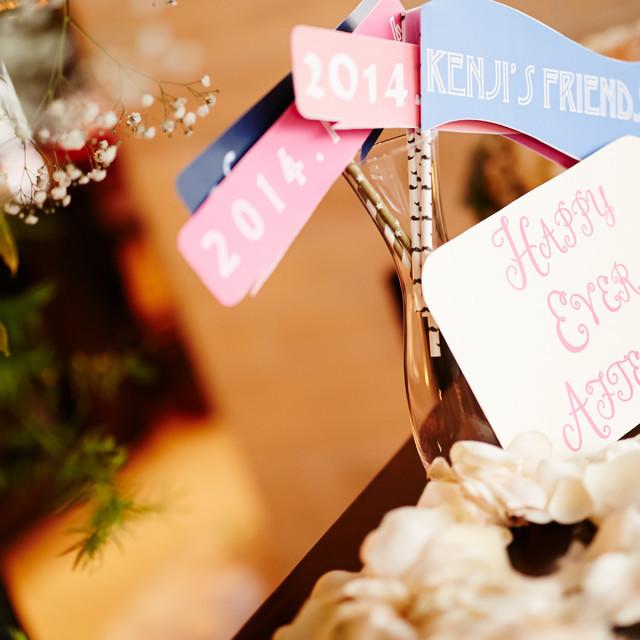 HaPicが撮影した結婚式当日のプロップスフォト