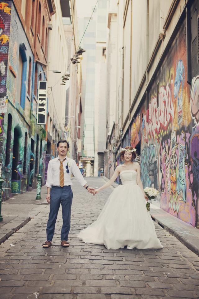 Rina Smile Photographyが撮影した海外ハネムーン(新婚旅行)でのウェディングフォト