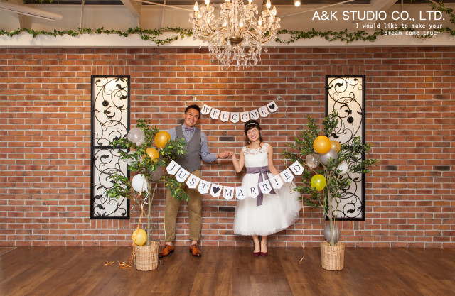 Welcome and Just Married banners! — Photo by by A&K STUDIO