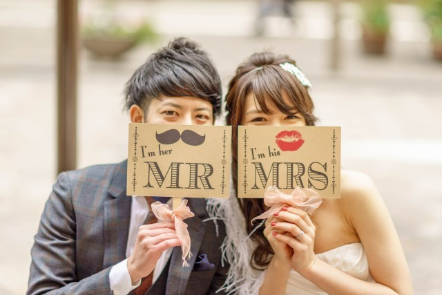 Mr. & Mrs. signs! — Photo by trickster photography