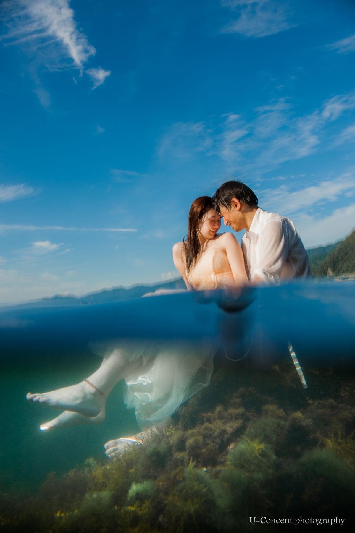U-CONCENT (香川裕貴)が撮影したビーチでのウェディングフォト