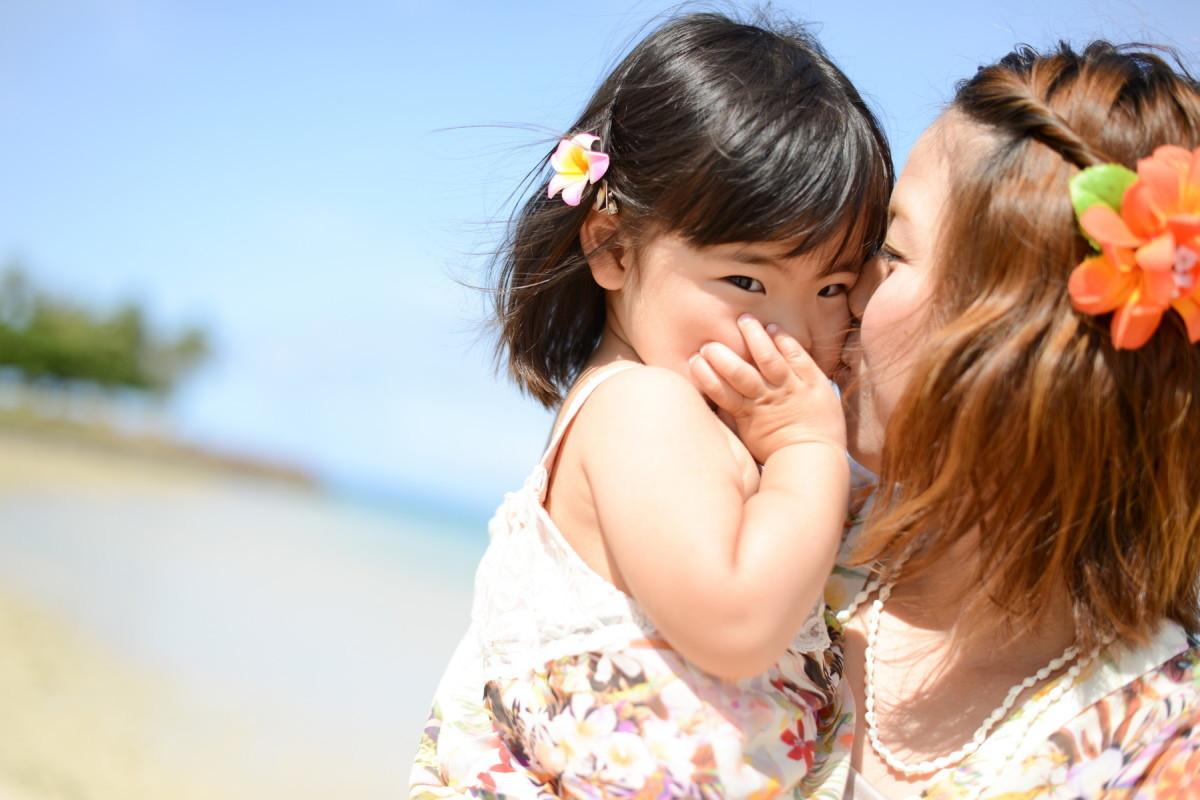CINEVIEの撮ったハワイでの家族写真(エミリィ)