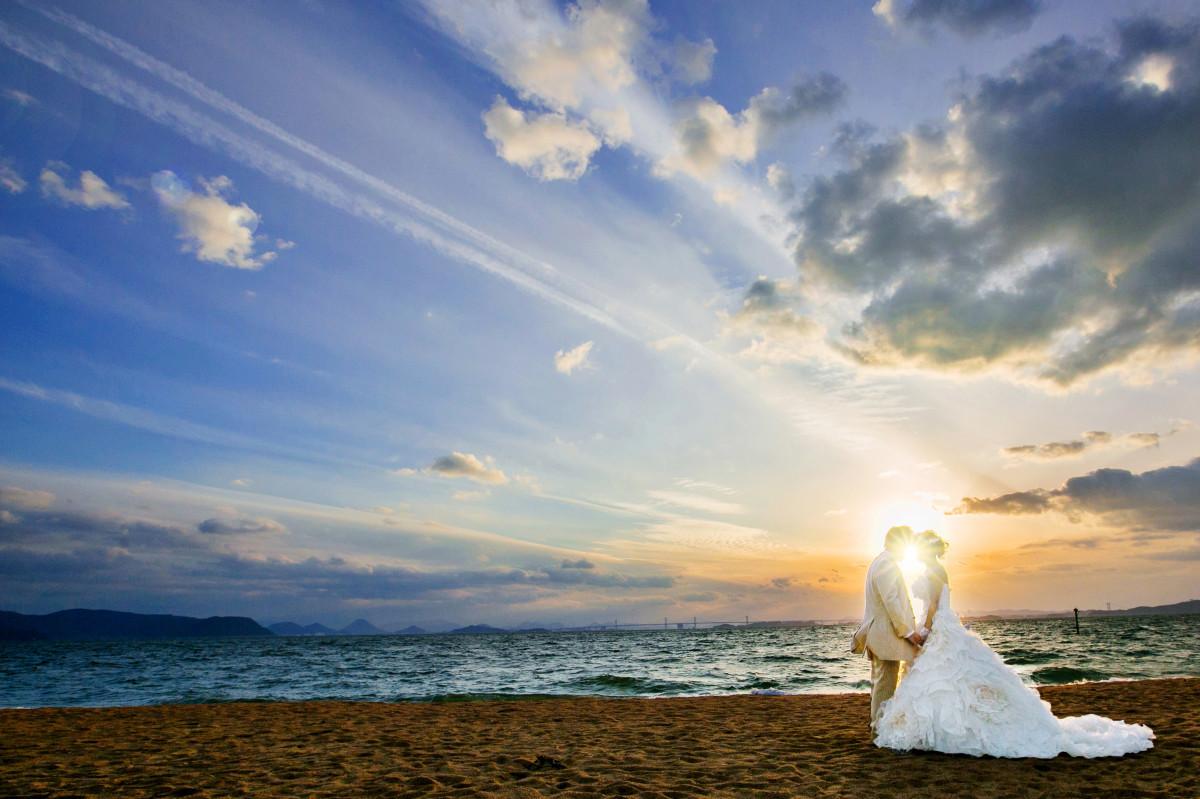 Location Studio GOODが撮影したビーチでのウェディングフォト