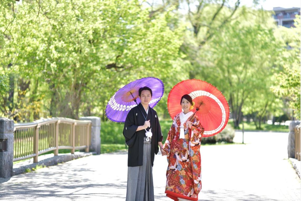 Japanese style couple— Photo by Hokkaido Location Photo Wedding