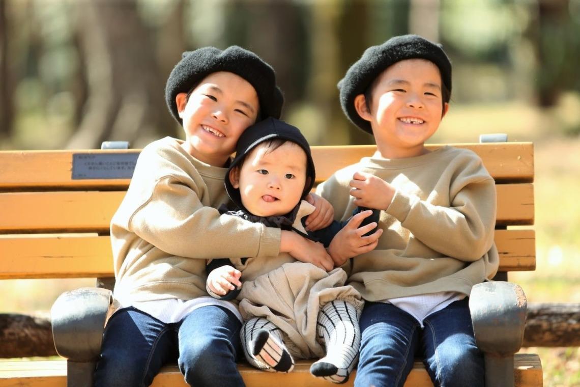 3月♪双子boysと赤ちゃんのロケーション出張撮影 in 井の頭公園