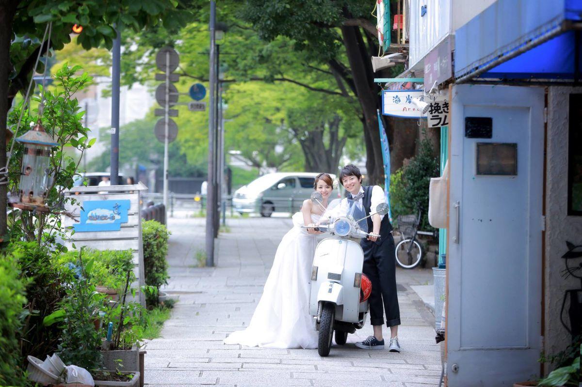 横浜の街中でのロケーションフォト