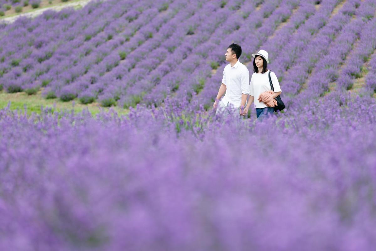 リッケフォトスタイルが撮影したサプライズプロポーズ写真in富良野