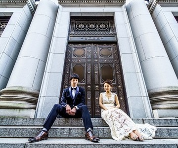 Fashionable photo shoot in  Marunouchi