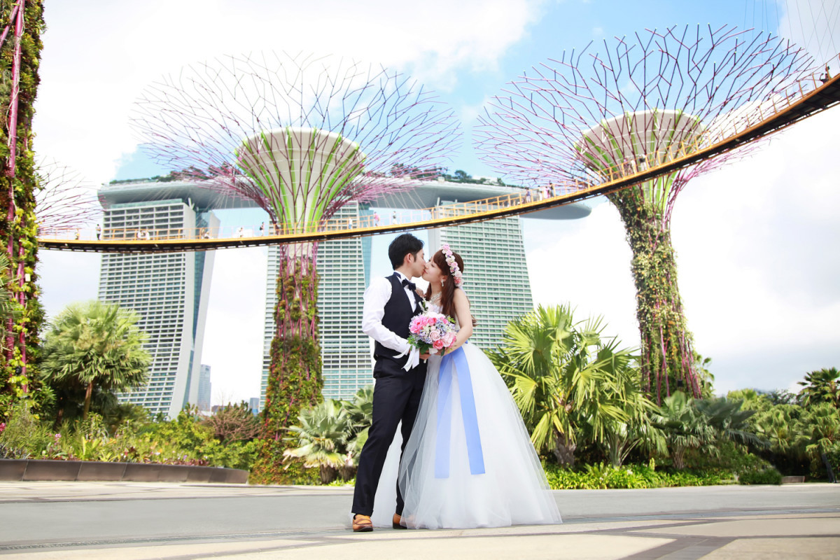 Wedding Photo at Gardens by the Bay